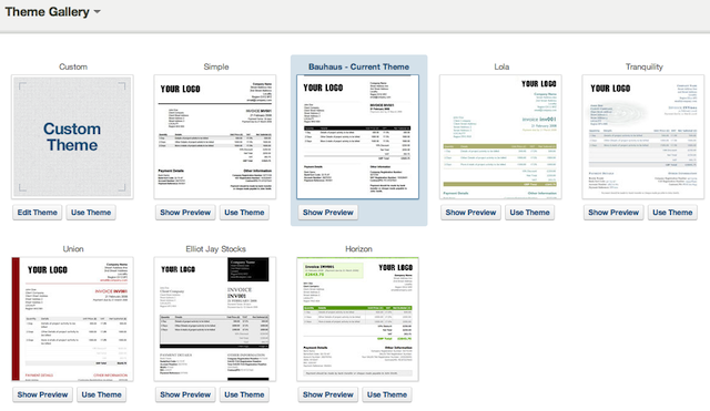 Applying Your Theme To Invoices  Invoice Style