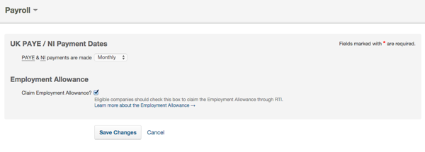 employment allowance tick box