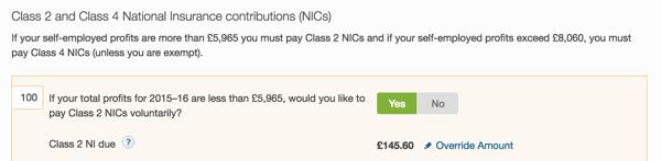 Class 2 NICs