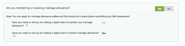 Marriage allowance section