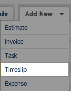 create timeslip from project area