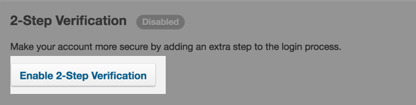 Enable 2-Step Verification button