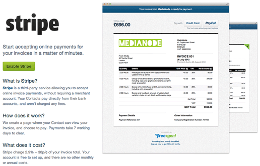 Stripe Receiving Invoice Payments FreeAgent - Stripe create invoice for service business