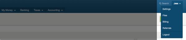 select settings from drop-down menu