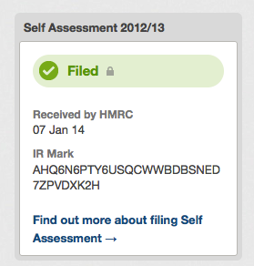 Example of the filed status