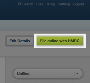 file online with HMRC button