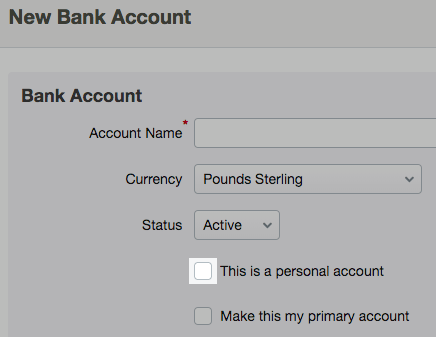 Add a new bank account – FreeAgent
