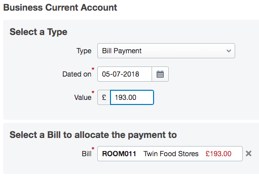 Pay a single bill – FreeAgent